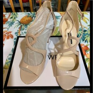 NWT Nine West Giaa Evening Sandals Patent Leather